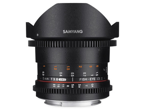 Samyang 8mm T3.8 UMC VDSLR Fish-Eye CS II Lens for Nikon