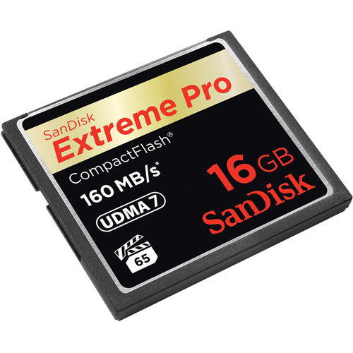 SanDisk Extreme PRO S 16GB SDCFXPS-016G (160MB/s) Compact Flash Memory Card
