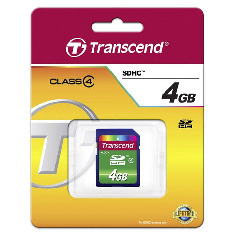Transcend 4GB SDHC Memory Card (Class 4)