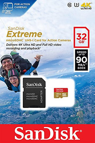 SanDisk Extreme 32GB SDSQXNE-032G-GN6AA (90MB/s) MicroSDHC Memory Card