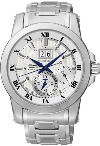 Seiko Premier Kinetic Perpetual SNP091 Watch (New with Tags)