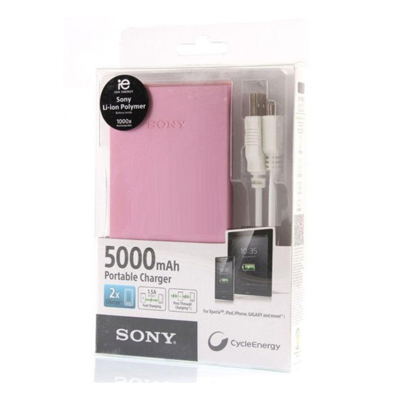 Sony CP-F5 Portable USB Charger 5000mAh Pink