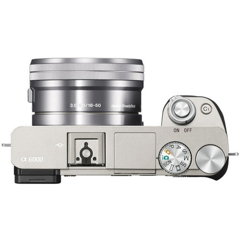 Sony Alpha A6000 ILCE-6000Y with 16-50mm and 55-210mm Lenses Silver Mirrorless Digital Camera