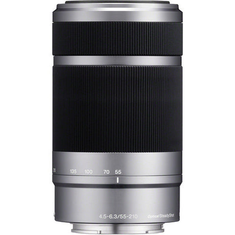 Sony E 55-210mm F/4.5-6.3 OSS Lens Silver (White Box)