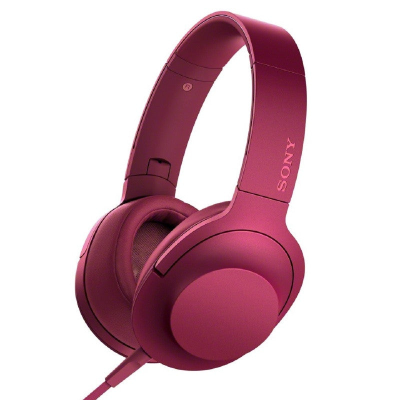 Sony h.ear on Premium Hi-Res Stereo Headphones MDR-100AAP PCE (Bordeaux Pink)