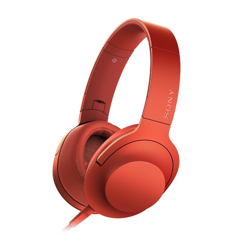 Sony h.ear on Premium Hi-Res Stereo Headphones MDR-100AAP RCE (Cinnabar Red)