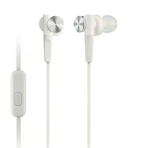 Sony MDRXB50AP Extra Bass Earbud Headset (White)