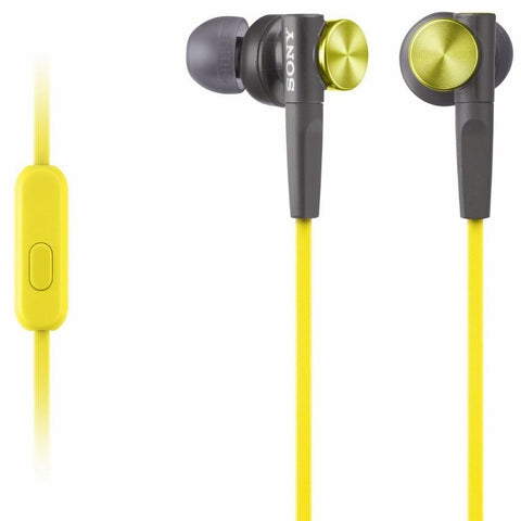 Sony MDRXB50AP Extra Bass Earbud Headset (Yellow)
