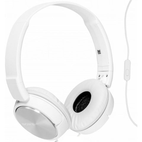 Sony MDRZX310 Foldable Headphones (Metallic White)