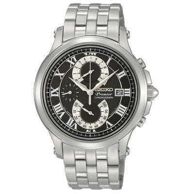 Seiko Premier Double Retrograde Chronograph SPC067 Watch (New with Tags)