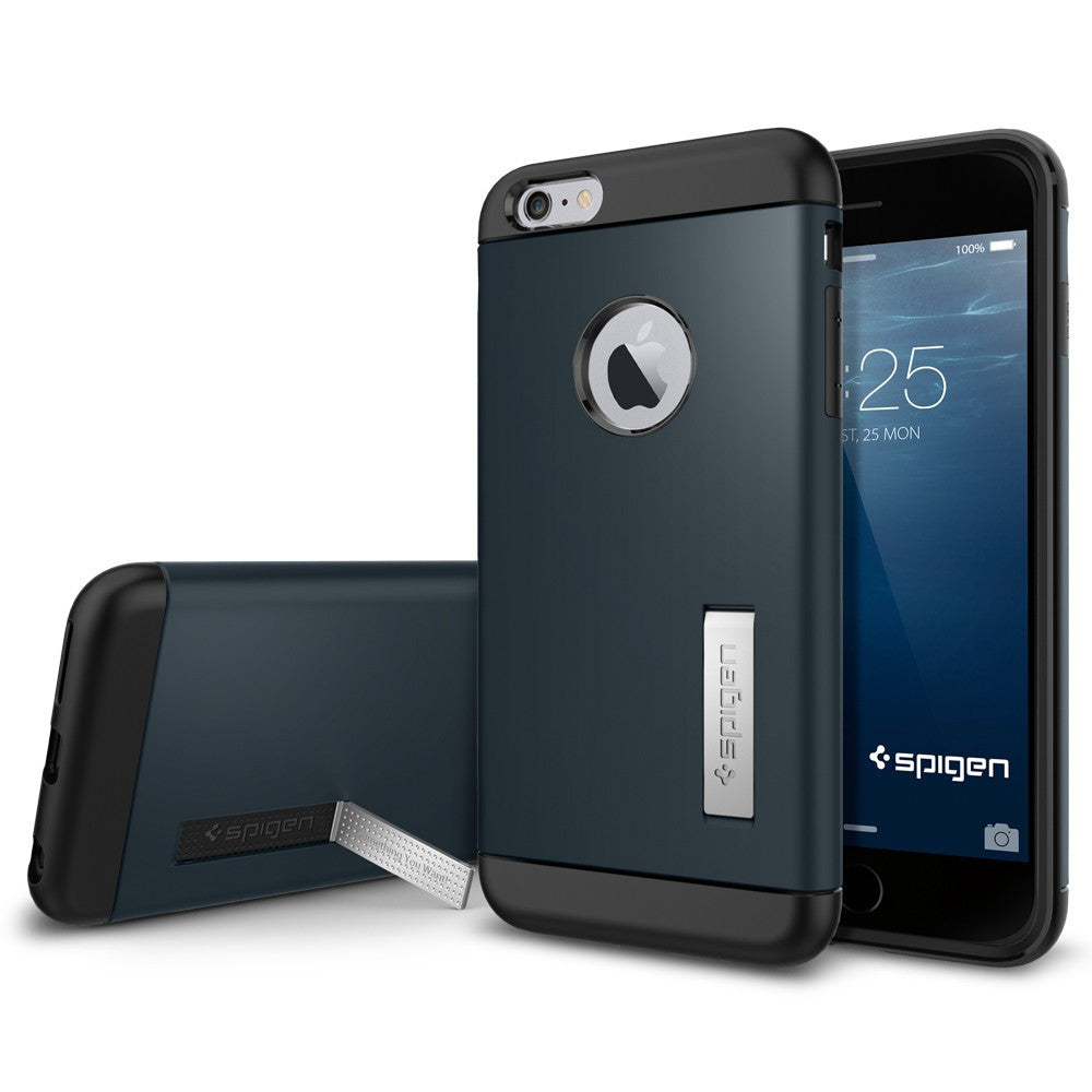 Spigen Slim Armor Series Case for IPhone 6 Plus (5.5 inches) Metal Slate