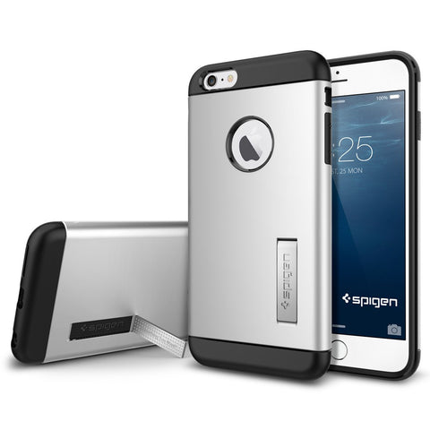 Spigen Slim Armor Series Case for IPhone 6 Plus (5.5 inches) Satin Silver