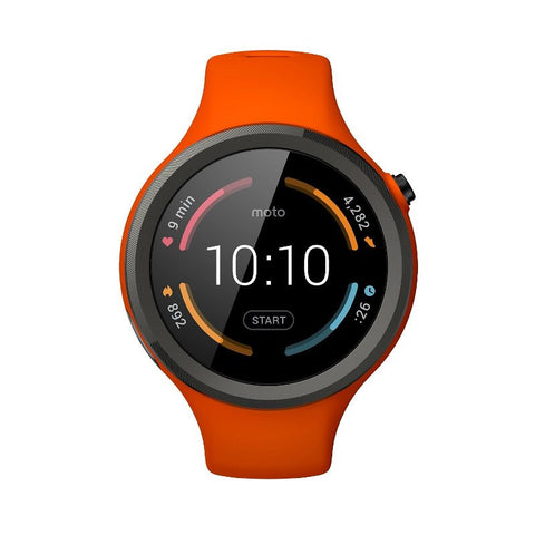 Motorola Moto 360 2nd Generation Sport 45MM Silicon Smart Watch (Flame Orange)