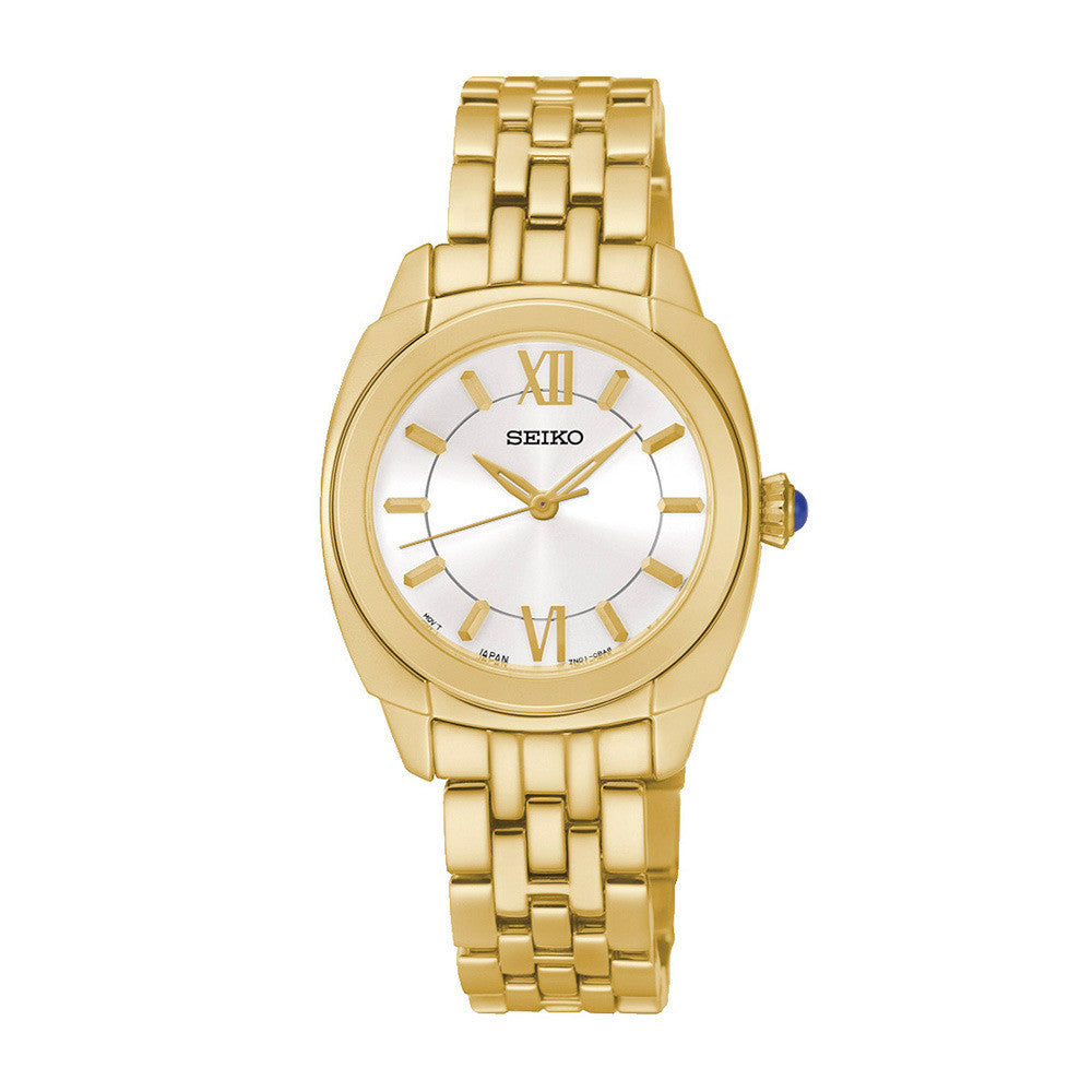 Seiko Neo Classic Mother of Pearl SRZ428 Watch (New with Tags)