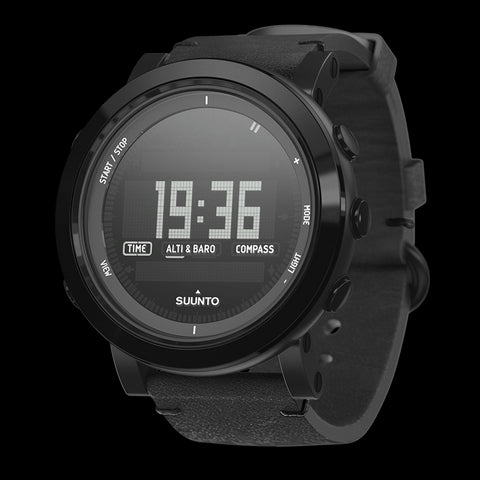 Suunto Essential Ceramic Premium Outdoor Watch SS022437000 (Black Leather)