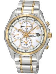 Seiko Solar Powered Chronograph SSC002 Watch (New with Tags)