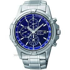 Seiko Solar Powered Chronograph SSC141P1 Watch (New with Tags)