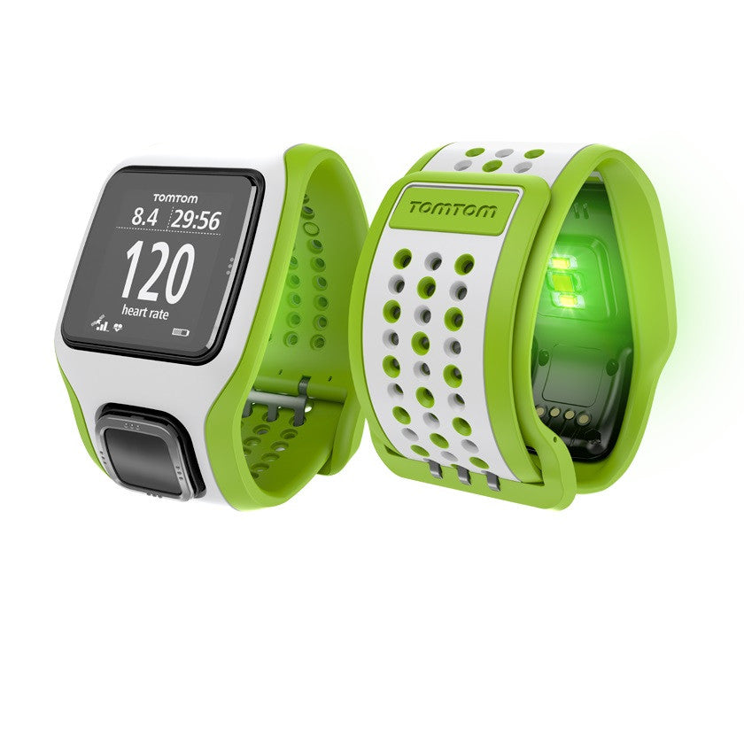TomTom Multi-Sport Cardio GPS Watch with Built-in Heart Rate Monitor (Green/White)