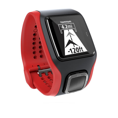 TomTom Multi-Sport GPS Watch with Built-in Heart Rate Monitor (Red/Black)