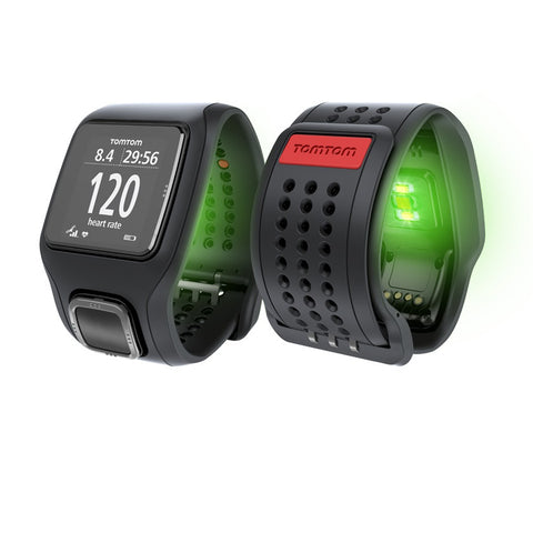 TomTom Runner Cardio GPS Watch with Built-in Heart Rate Monitor (Black)