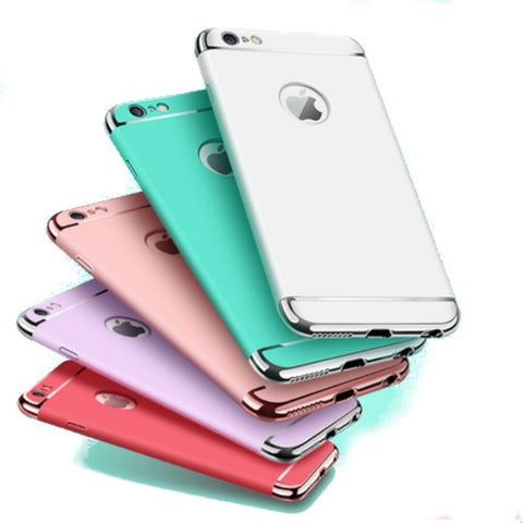 Hard Shell Case 4.7 inch for iPhone 6/6s (Rose Gold Steel Film)