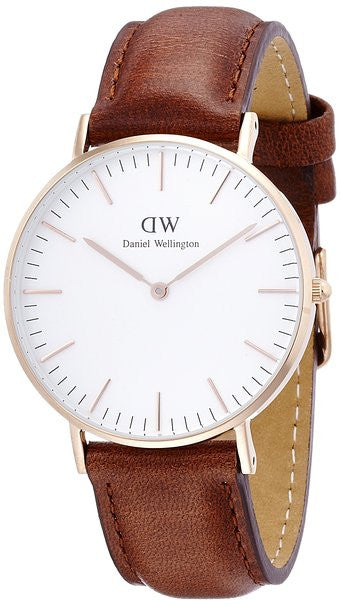 Daniel Wellington St Mawes Leather Analog 0507DW Watch (New with Tags)