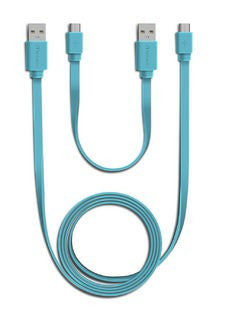 Verbatim Micro USB Cable Sync & Charge 2pcs Set (Blue)
