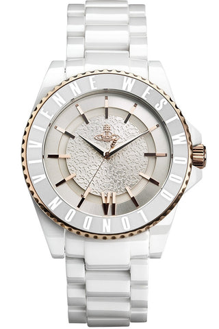 Vivienne Westwood Ceramic VV048RSWH Watch (New with Tags)