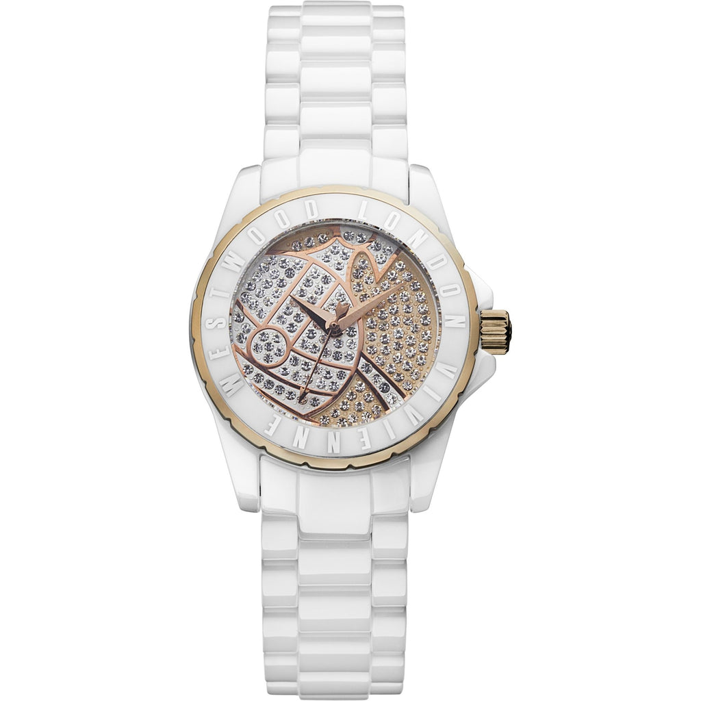 Vivienne Westwood Sloane II VV088SRSWH Watch (New with Tags)
