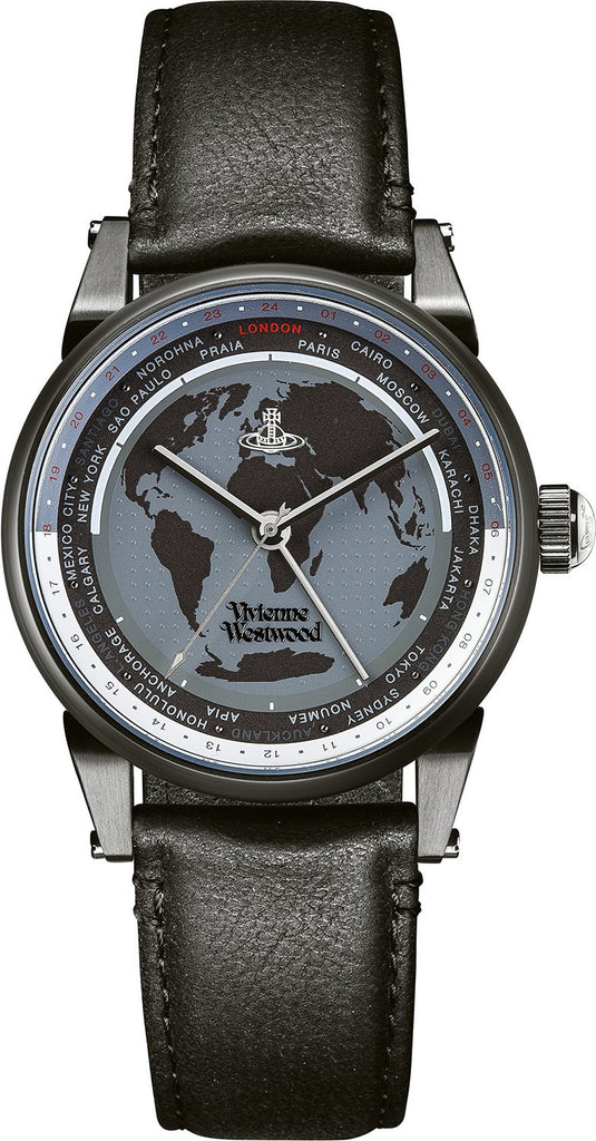 Vivienne Westwood Finsbury World VV065MBKBK Watch (New with Tags)