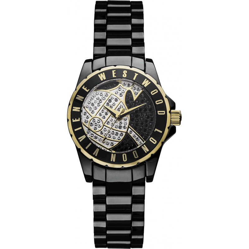 Vivienne Westwood Sloane VV088SGDBK Watch (New with Tags)