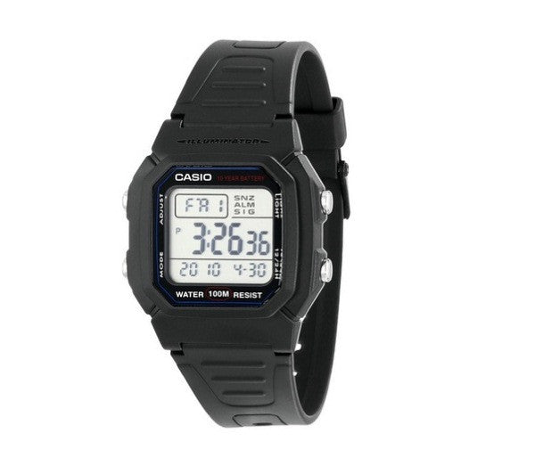 Casio Standard 10-Year Battery Digital W-800H-1AVDF Watch (New with Tags)