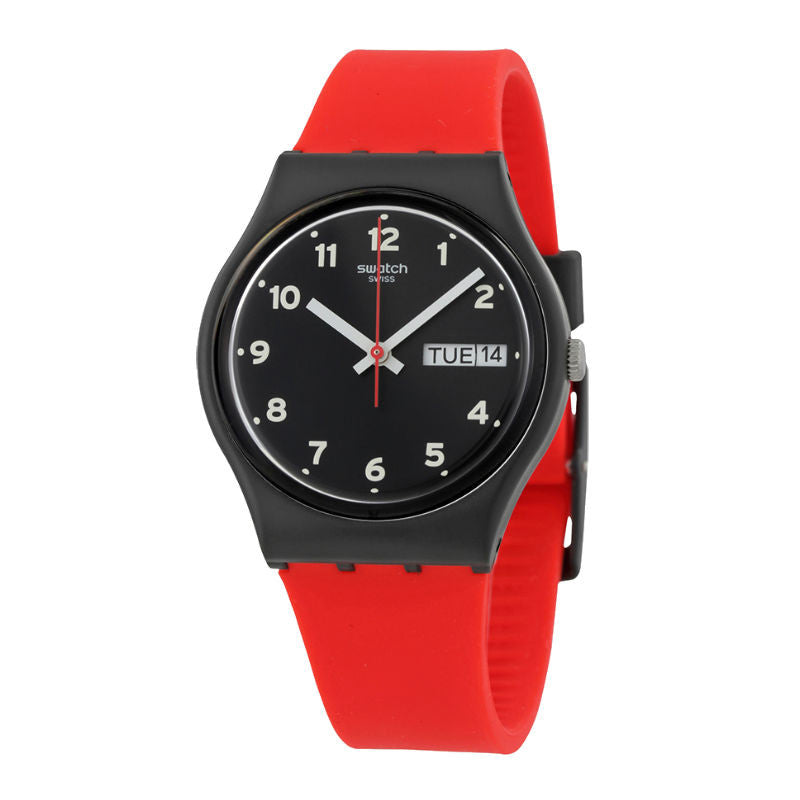 Swatch Red Grin GB754 Watch (New with Tags)