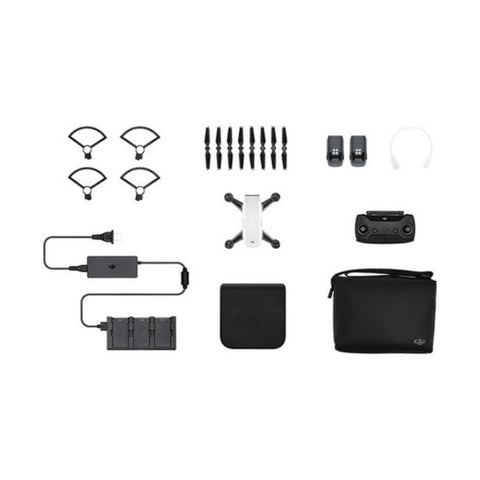 DJI Spark Fly More Combo Mini Quadcopter Drone (Alpine White)