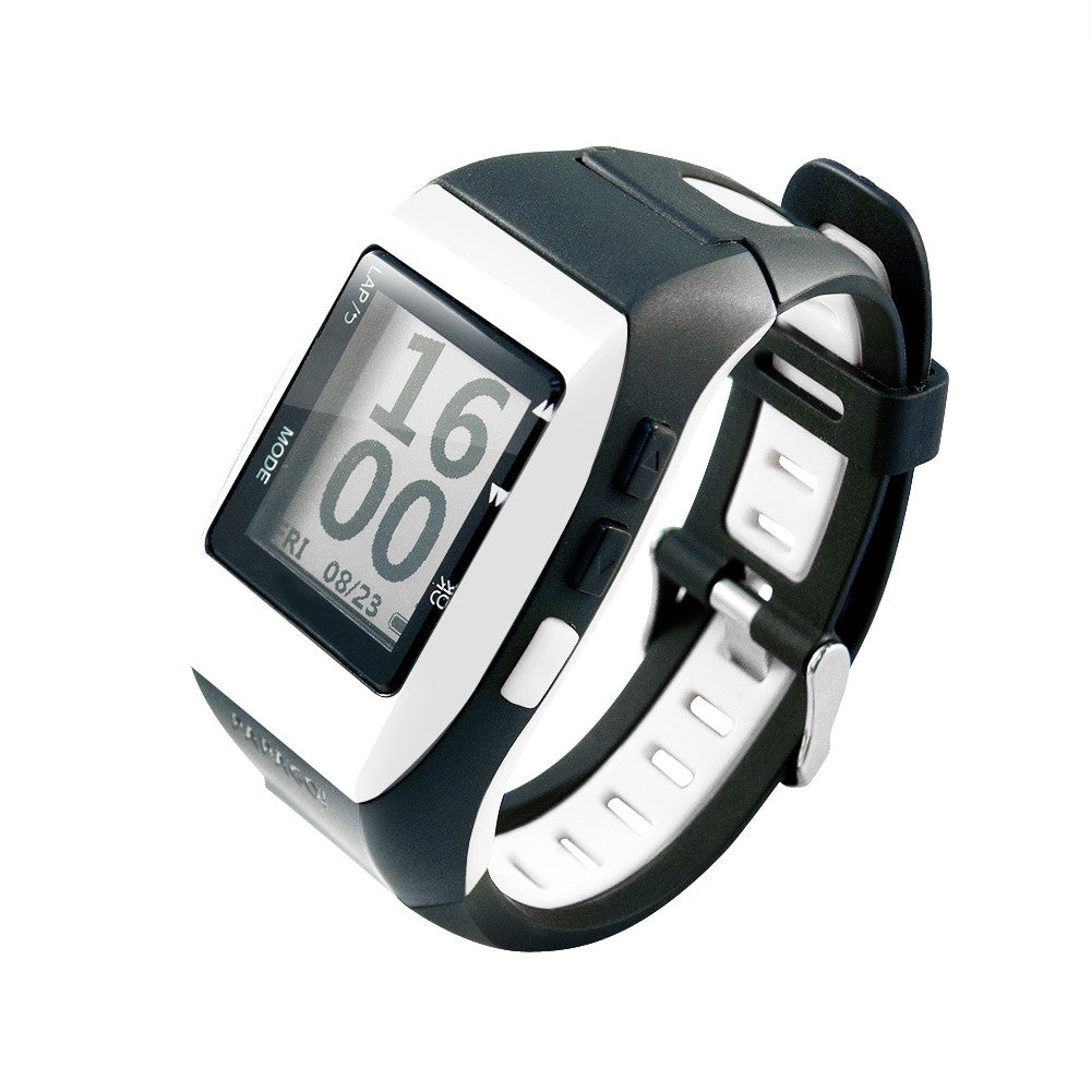 GOLife by Papago Run 120+ GPS Sports Watch White Black