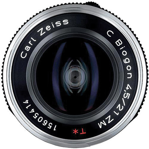 Carl Zeiss C Biogon T* ZM 21mm f/4.5 for Leica M Black Lens