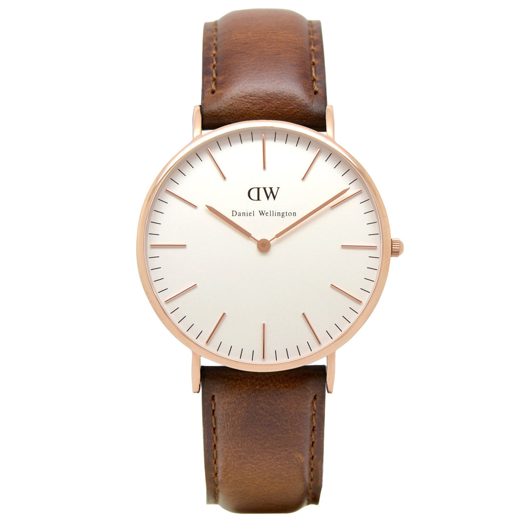 Daniel Wellington St Mawes Leather Analog 0106DW Watch (New with Tags)