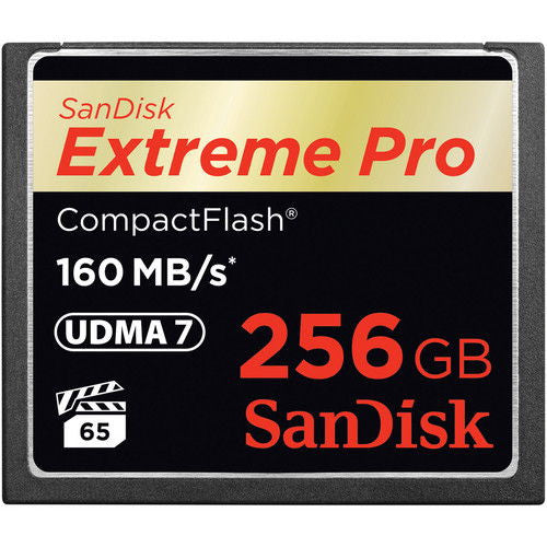 SanDisk Extreme PRO S 256GB SDCFXPS-256G (160MB/s) Compact Flash Memory Card
