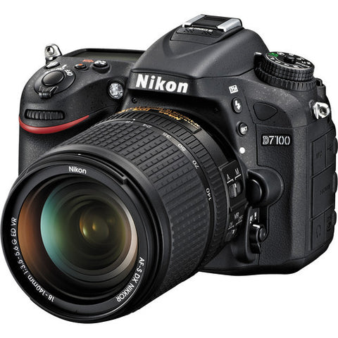 Nikon D7100 Kit with 18-140mm VR DX Lens Black Digital SLR Camera