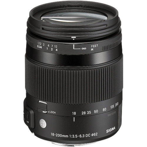 Sigma 18-200mm F3.5-6.3 DC Macro OS HSM (Canon) Lens (White Box)