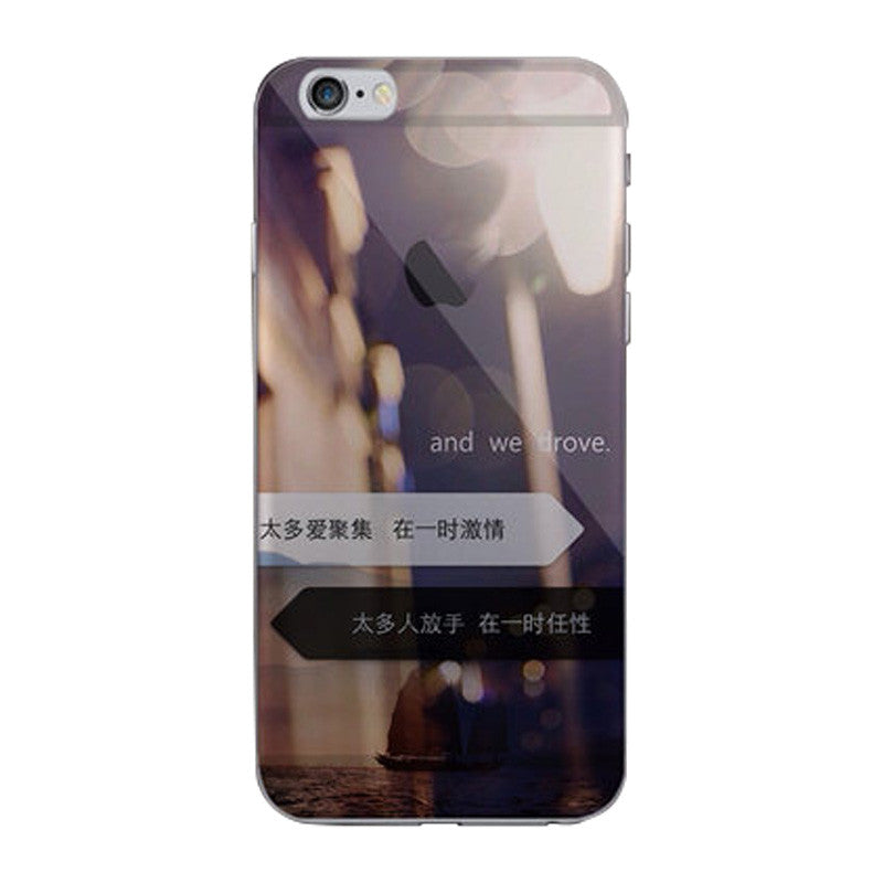 Hard Transparent Case 4.7 inch for iPhone 6/6S (Light-hearted)
