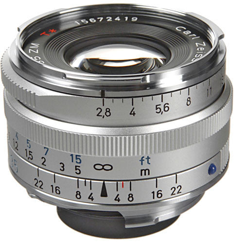 Carl Zeiss Biogon T* ZM 35mm f/2.8 for Leica M Silver Lens