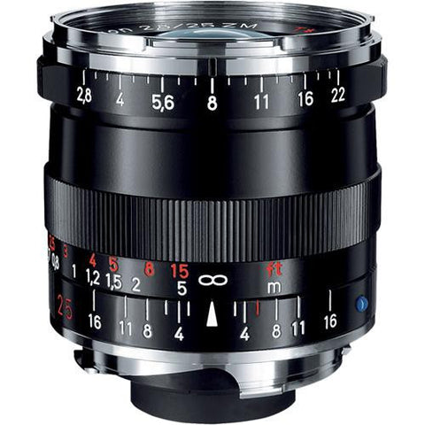 Carl Zeiss Biogon T* ZM 25mm f/2.8 for Leica M Black Lens