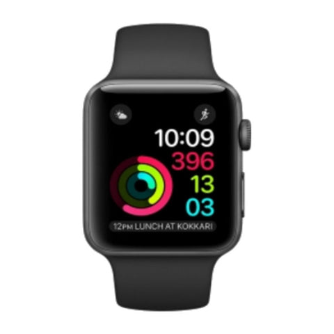 Apple Watch 1 42mm Space Gray Aluminum Case Sport Band MP032LL/A (Black)