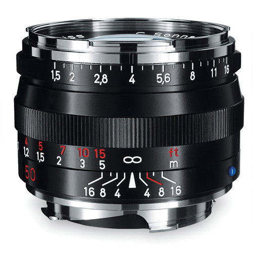 Carl Zeiss Sonnar ZM 50mm f/1.5 for Leica M Black Lens