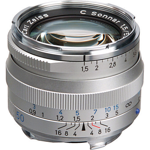 Carl Zeiss Sonnar ZM 50mm f/1.5 for Leica M Silver Lens