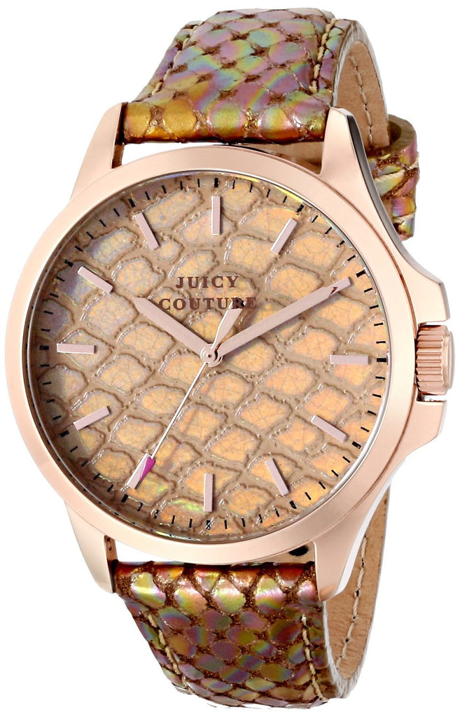 Juicy Couture Jetsetter Bronze Python Embossed 1901179 Watch (New with Tags)
