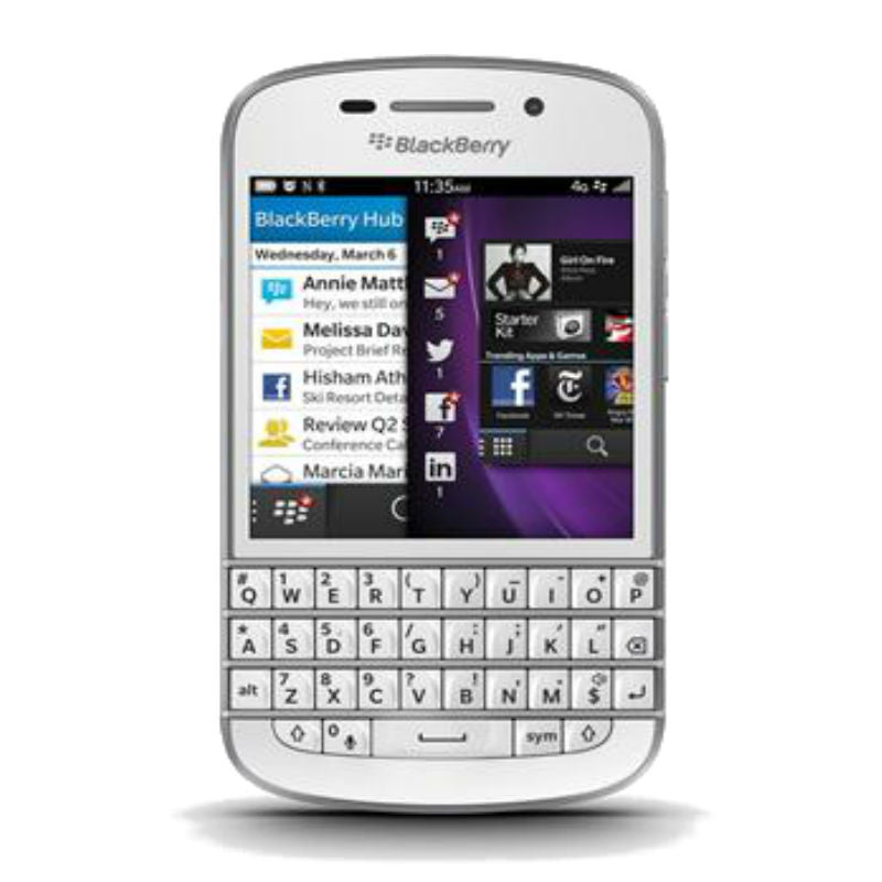 Blackberry Q10 4G LTE White Unlocked