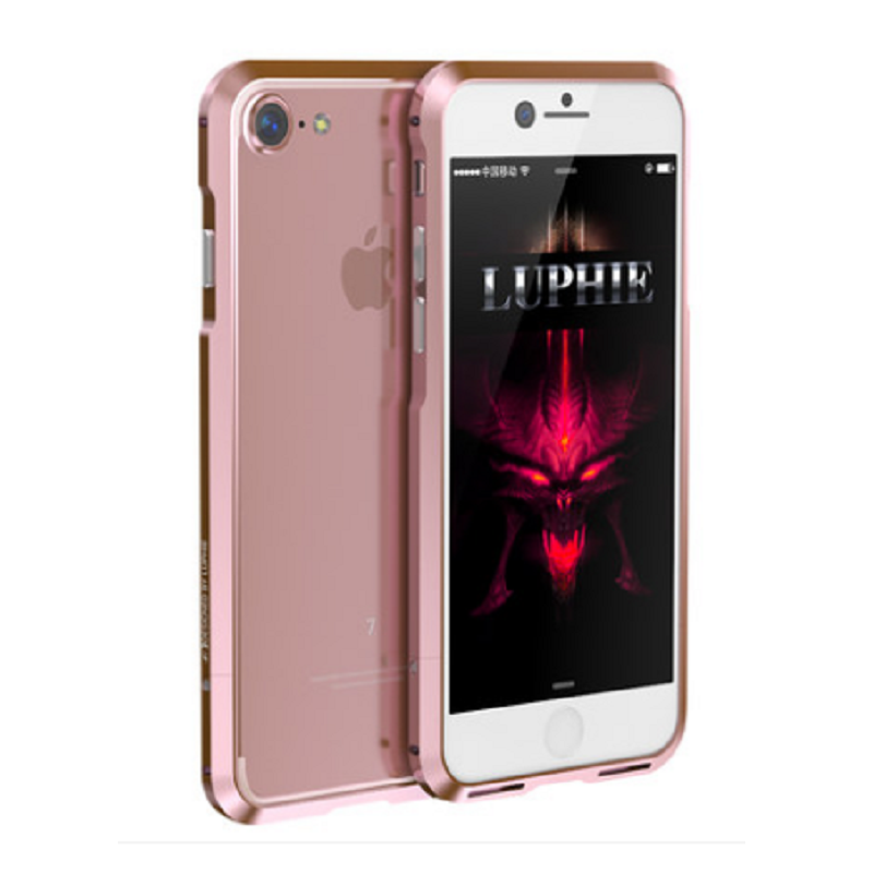 Shell Metal Frame Case for iPhone 7 Plus (Rose Gold)