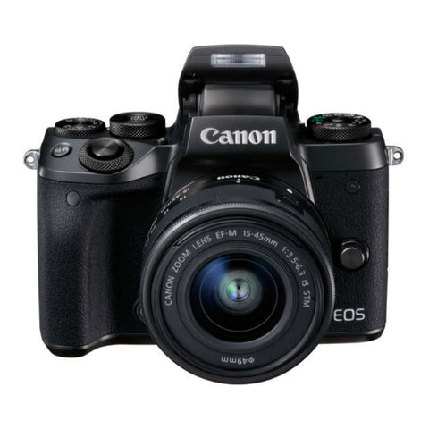 Canon EOS M5 with EF-M 15-45mm f/3.5-6.3 IS STM Lens Black Digital SLR Camera (Kit)